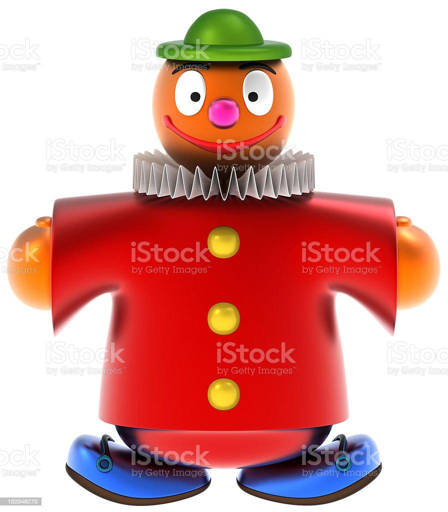 Toy clown stock photo