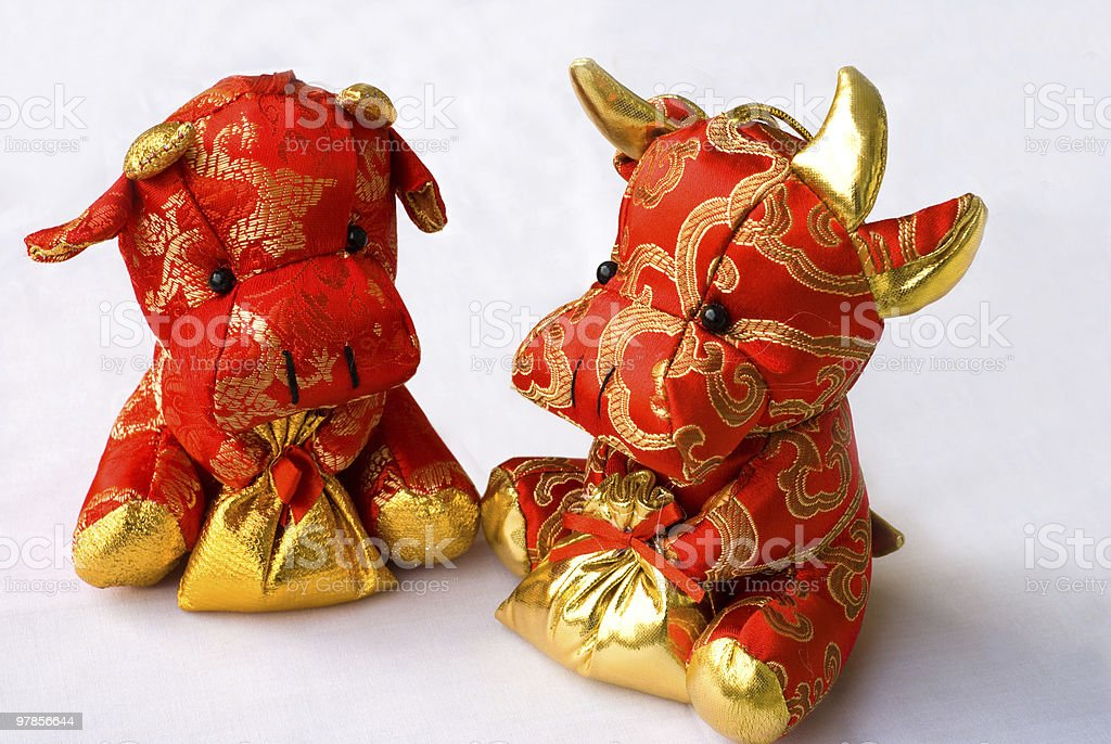 Toy cow royalty-free stock photo