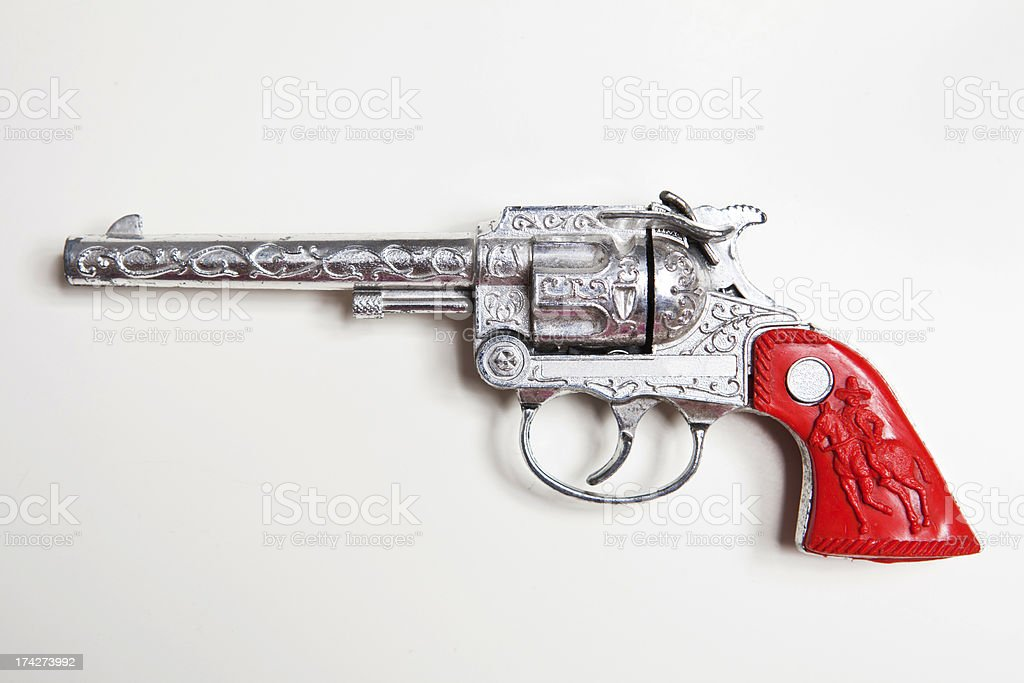 Toy Cowboy Gun stock photo