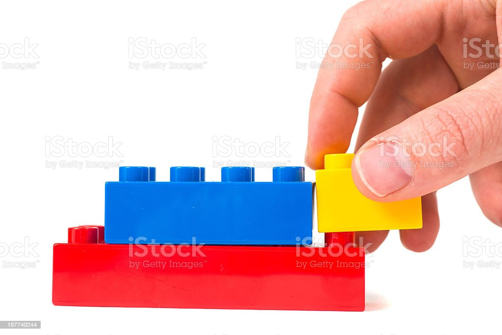 toy cubes - Baustein stock photo