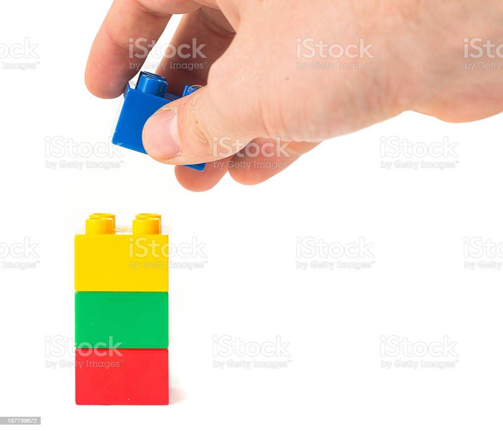 toy cubes finishing stock photo