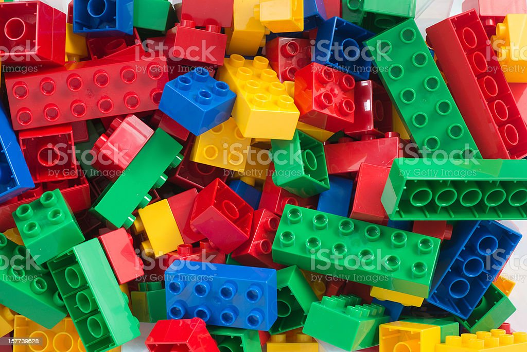 toy cubes full-frame background stock photo