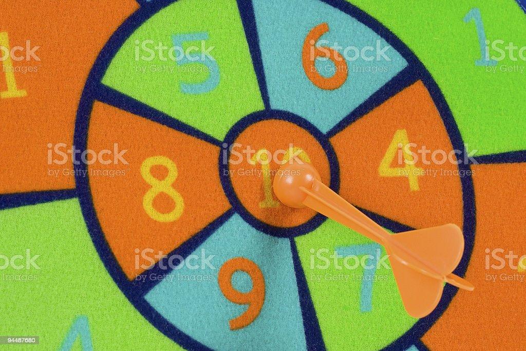 Toy dart board royalty-free stock photo