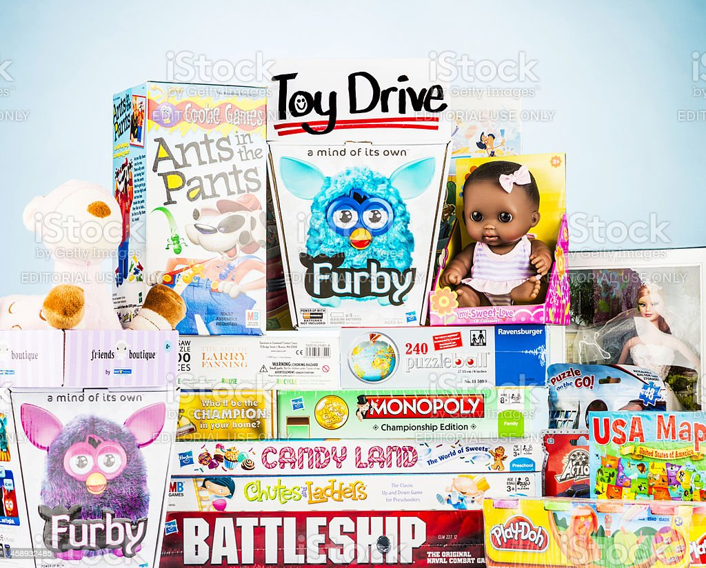 Toy Drive Collection stock photo