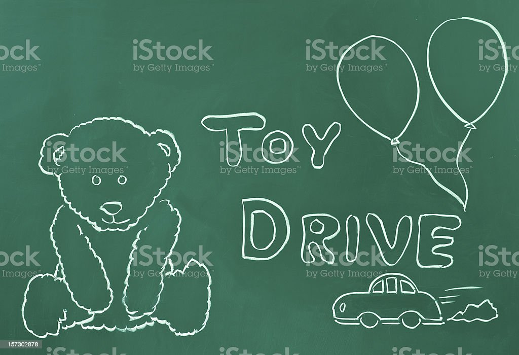 Toy drive concept stock photo