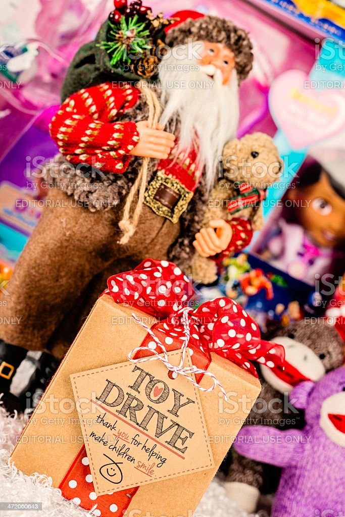 Toy Drive for Children stock photo