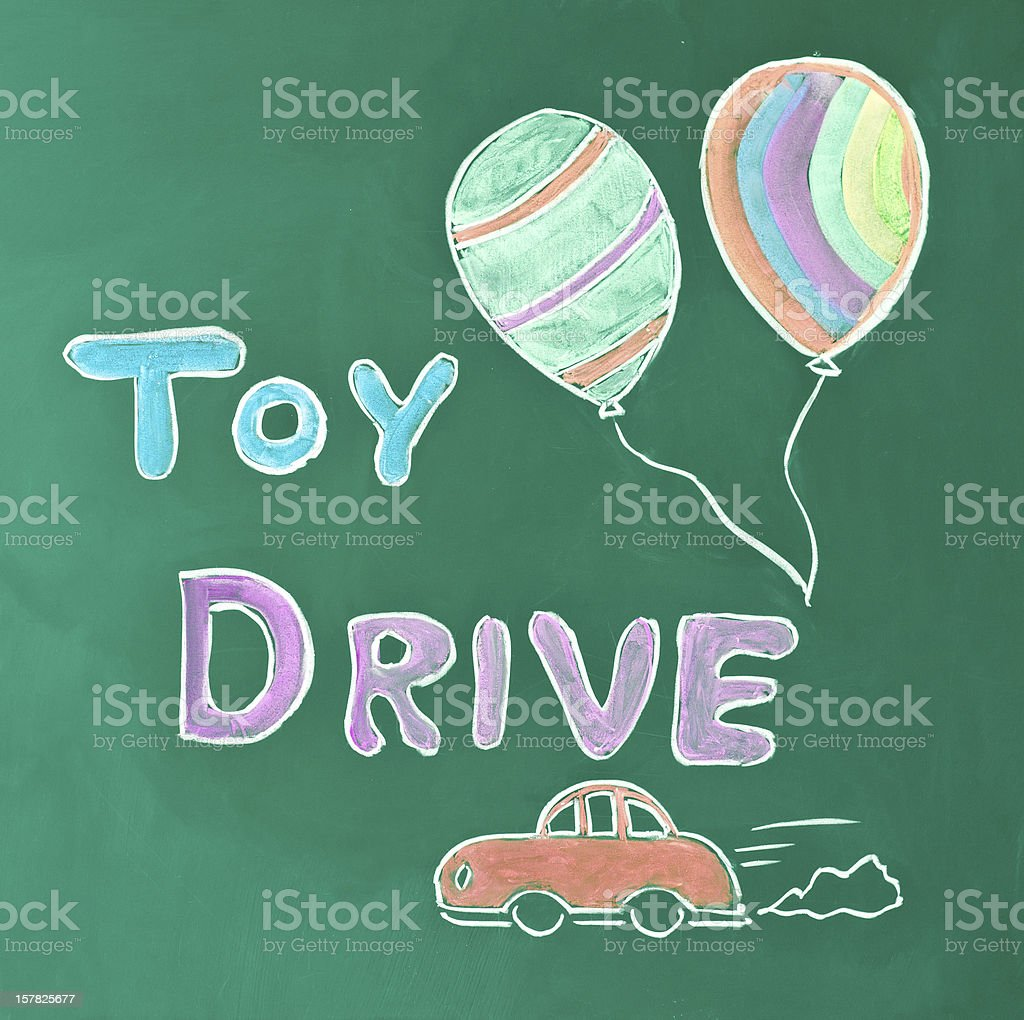 Toy drive stock photo