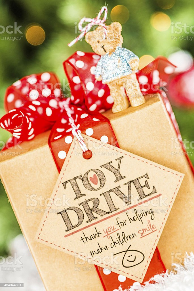 Toy Drive Promotion stock photo