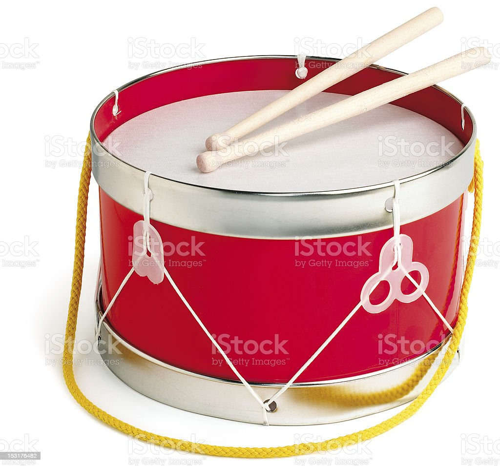 toy drum isolated on white stock photo