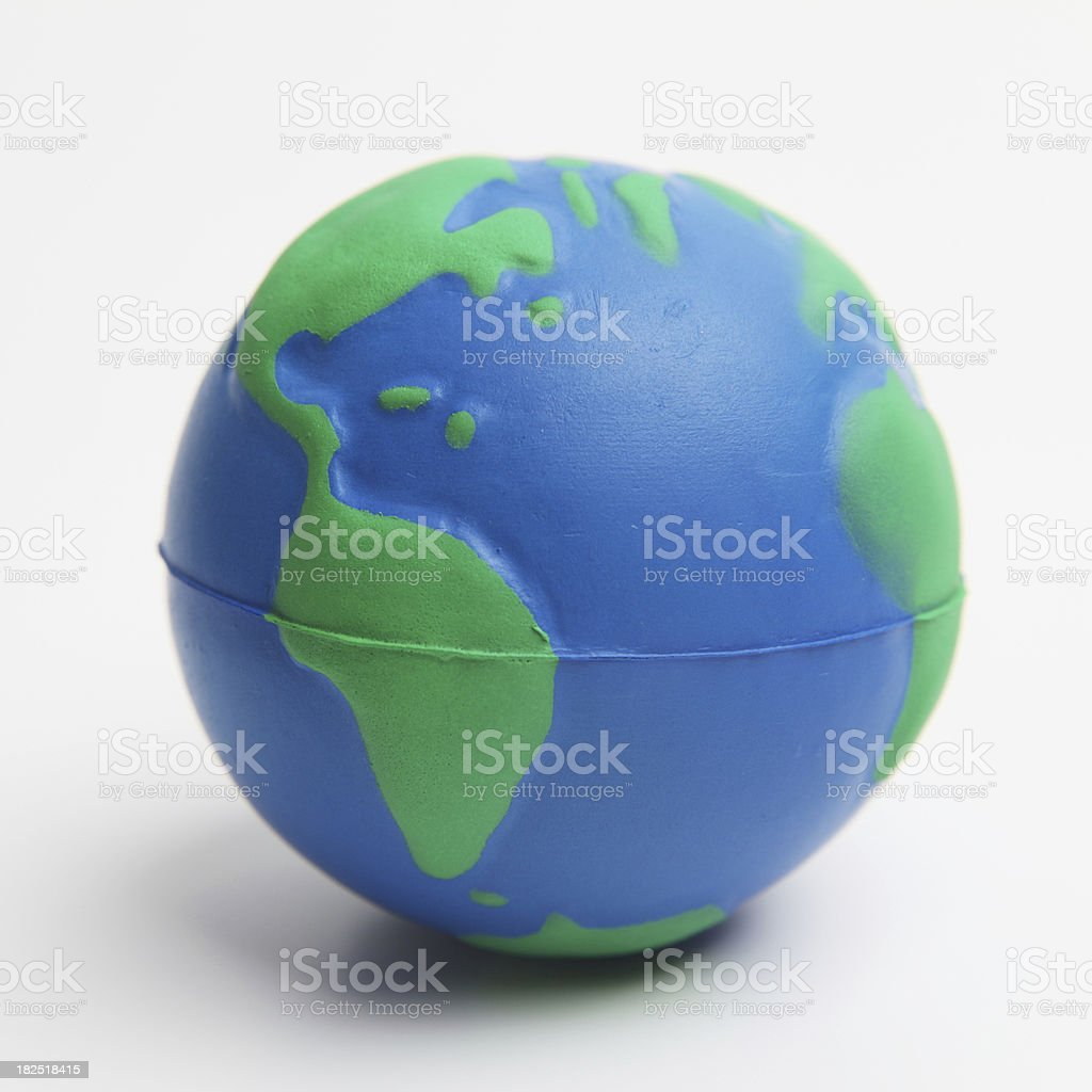 Toy earth stock photo