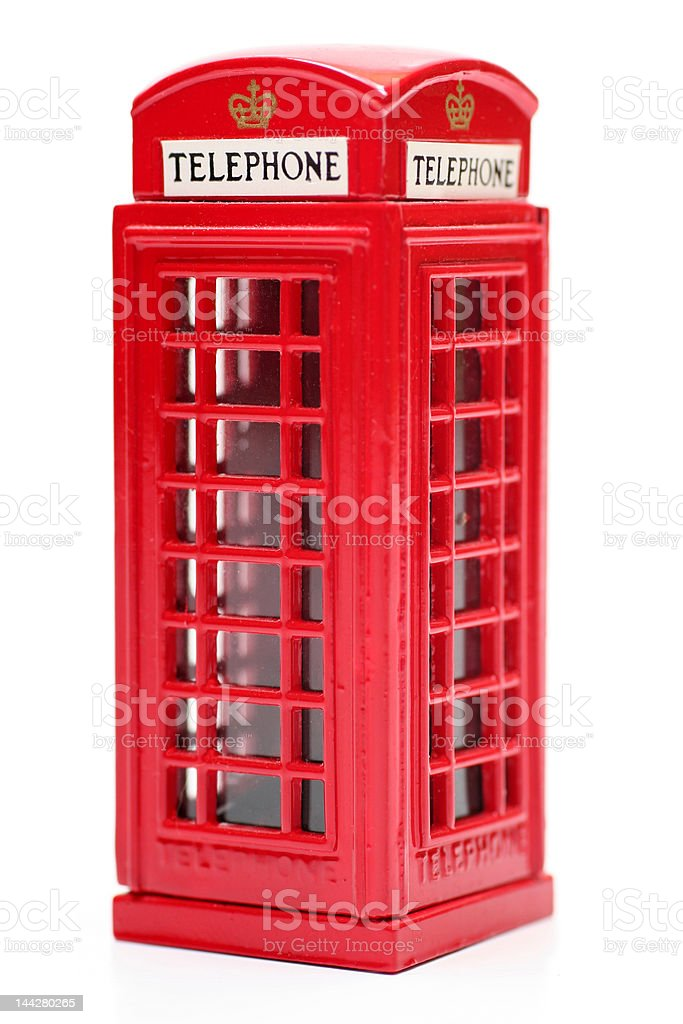 Toy English Phone Booth stock photo