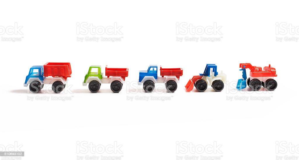 Toy farm cars stock photo