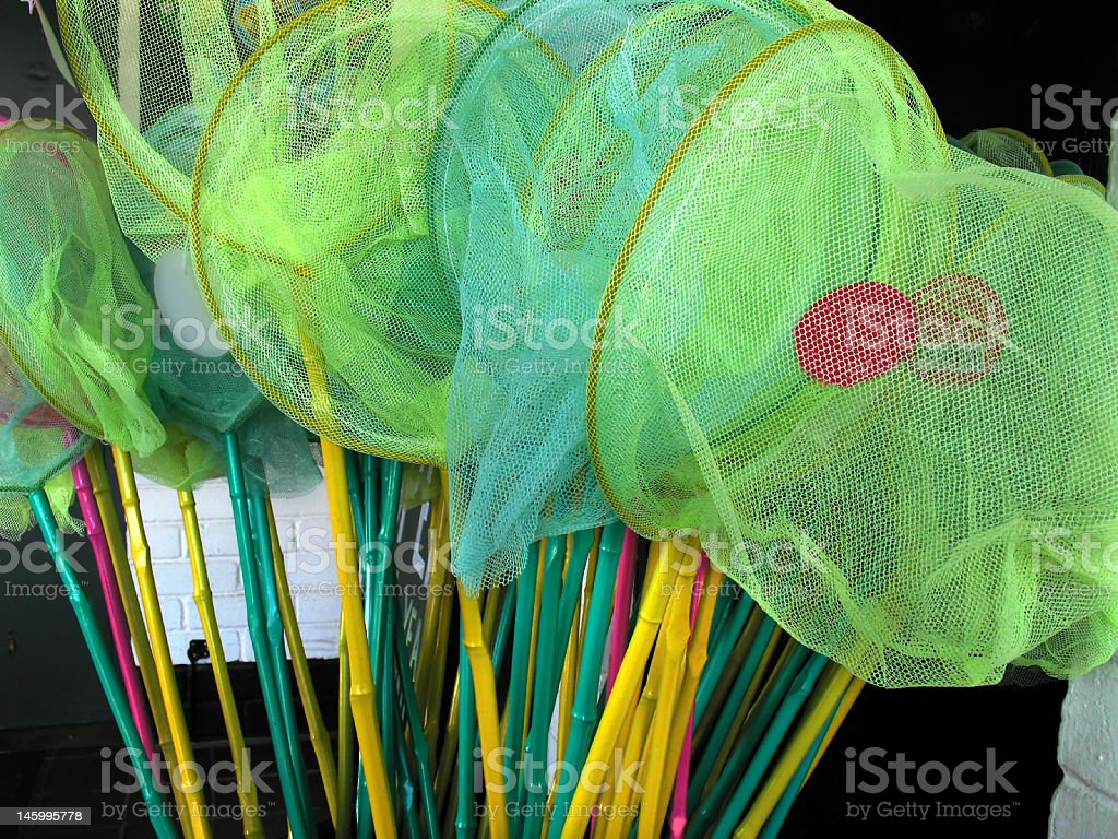 toy fishing nets royalty-free stock photo