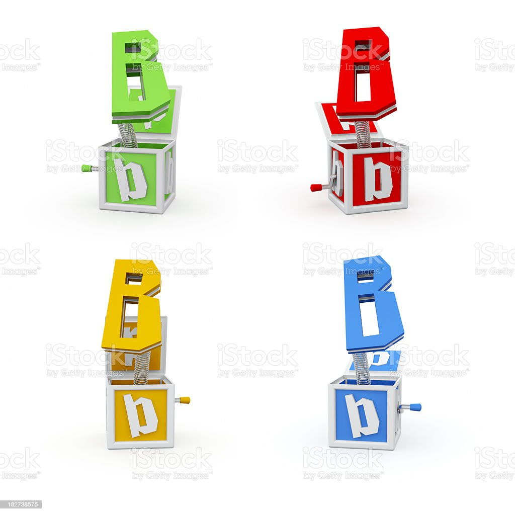 Toy Font Letter B royalty-free stock photo