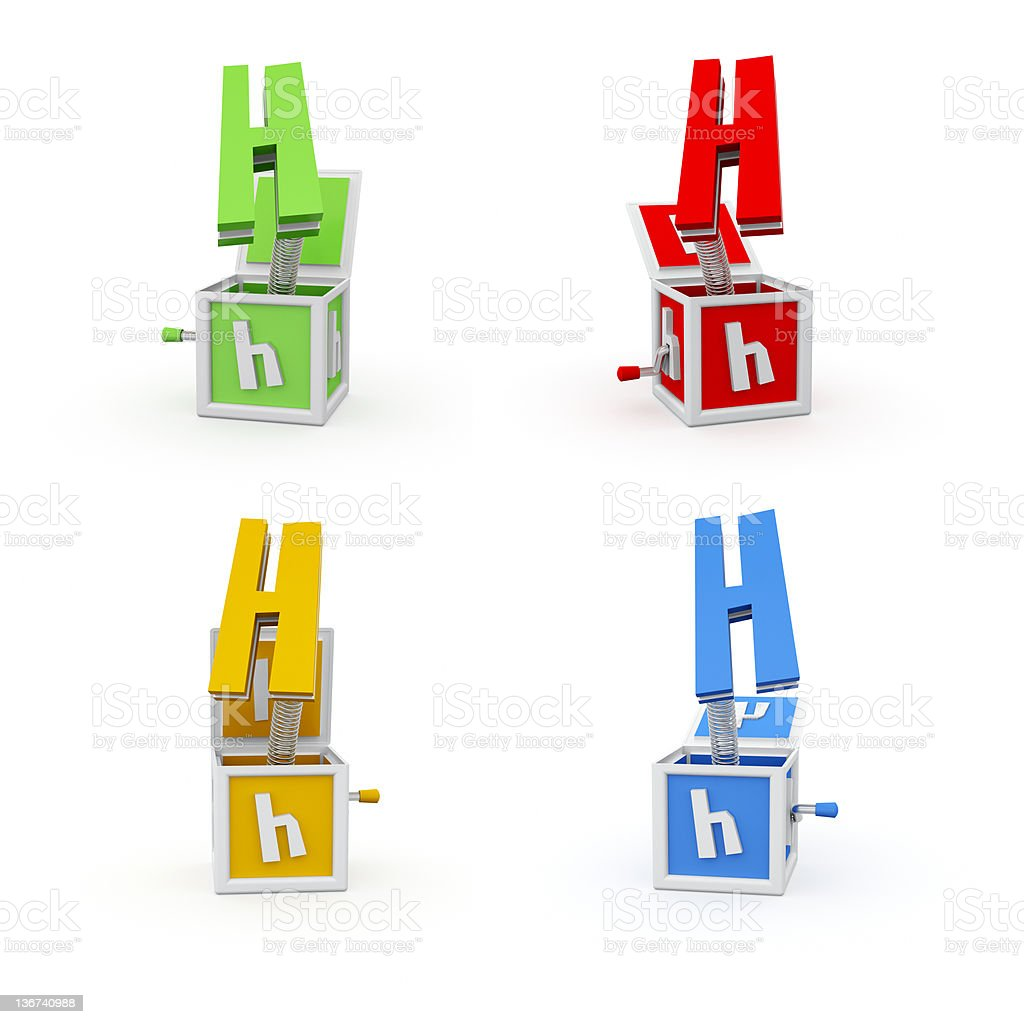 Toy Font Letter H royalty-free stock photo