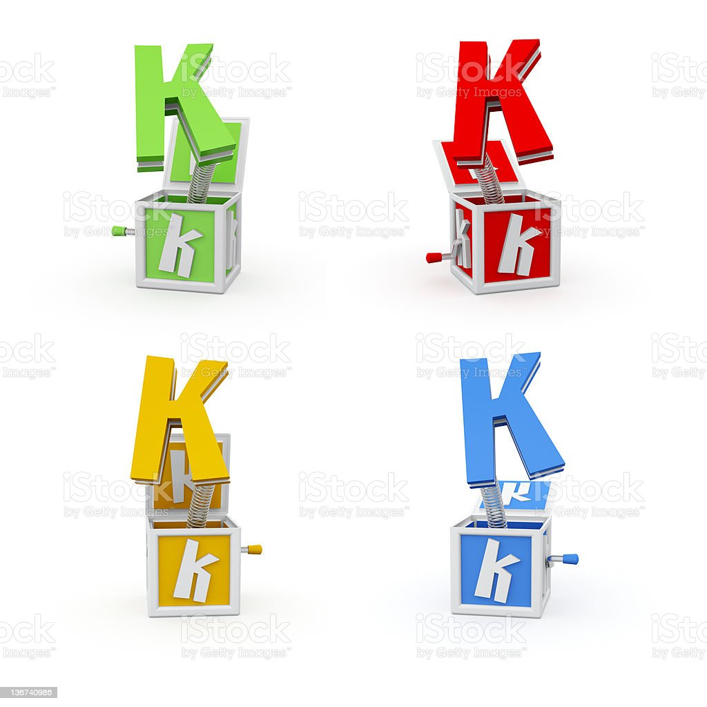 Toy Font Letter K royalty-free stock photo