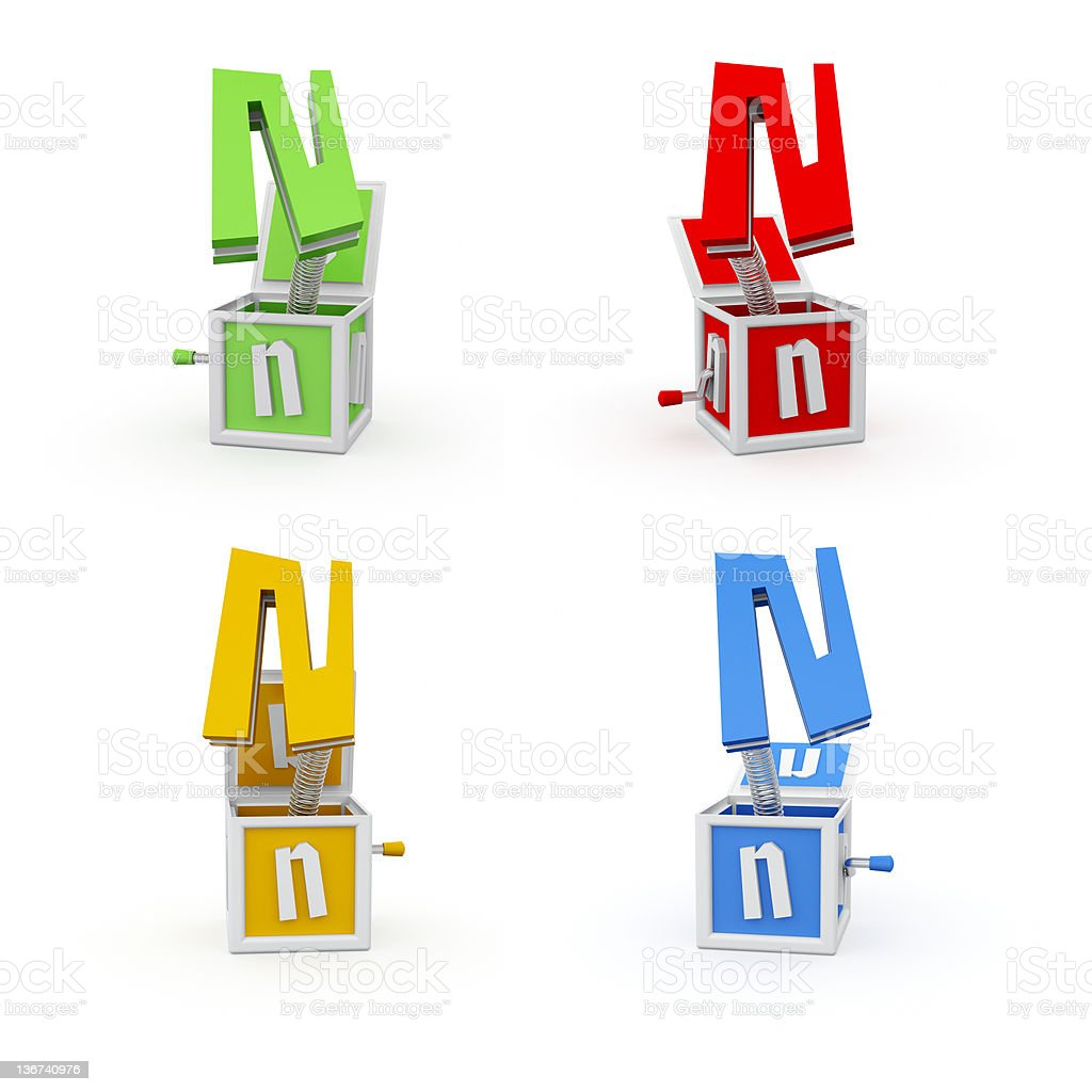 Toy Font Letter N royalty-free stock photo
