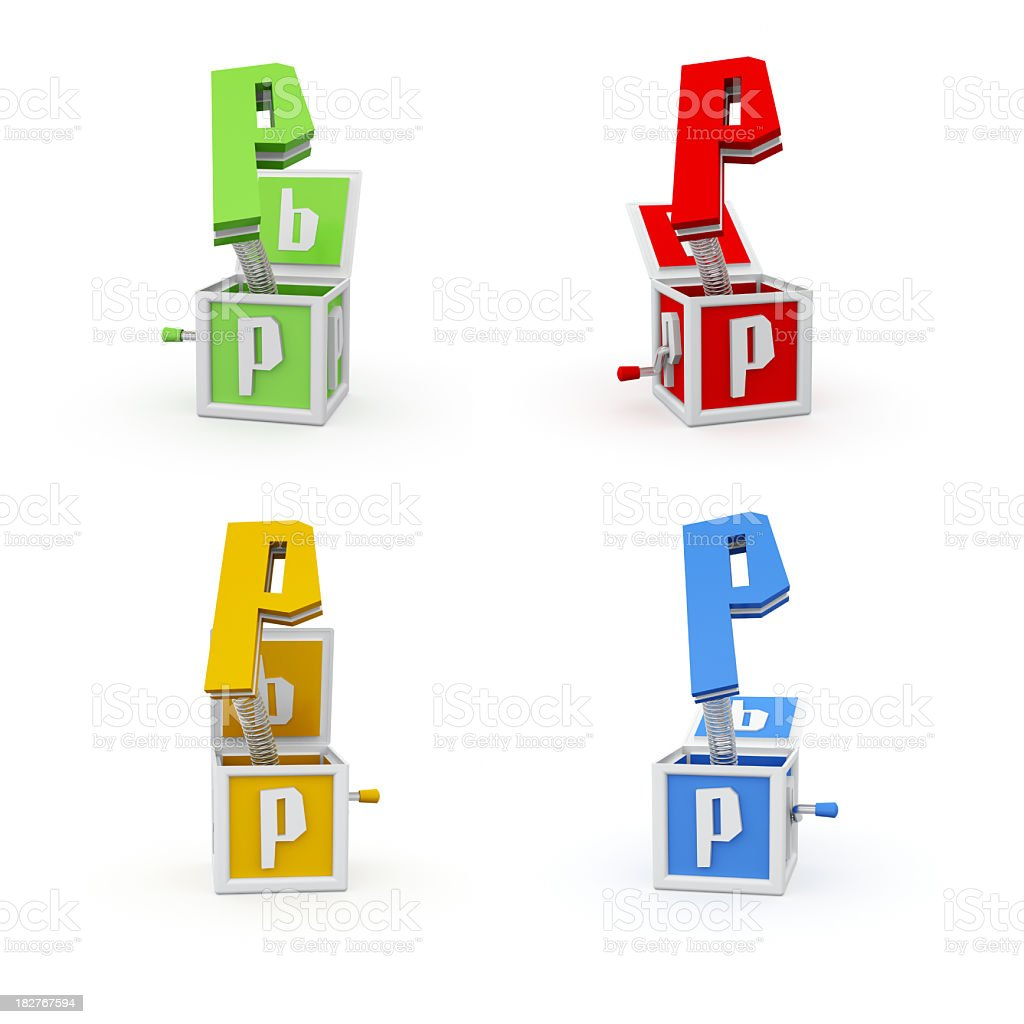 Toy Font Letter P royalty-free stock photo