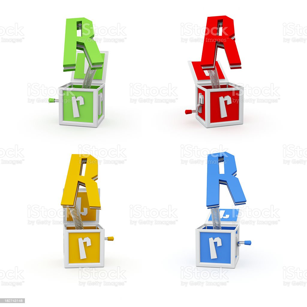 Toy Font Letter R royalty-free stock photo