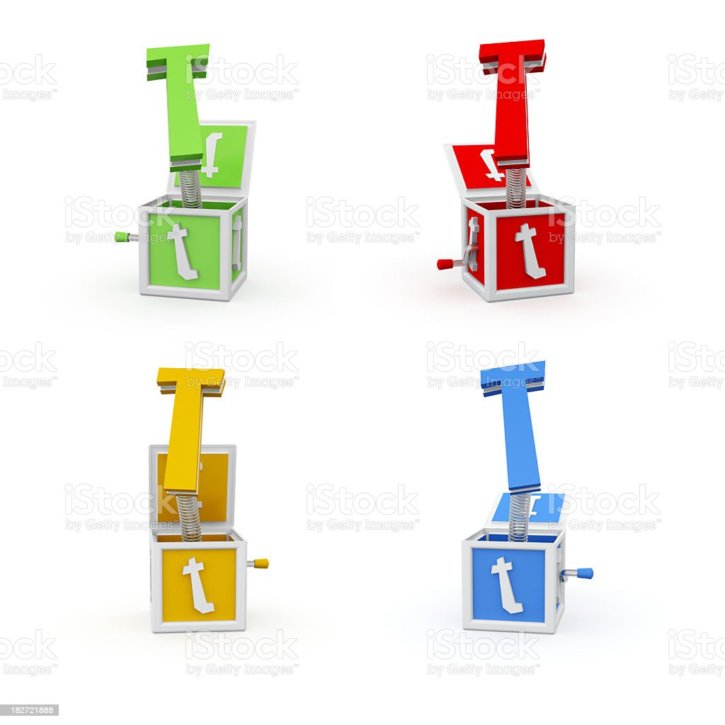 Toy Font Letter T royalty-free stock photo