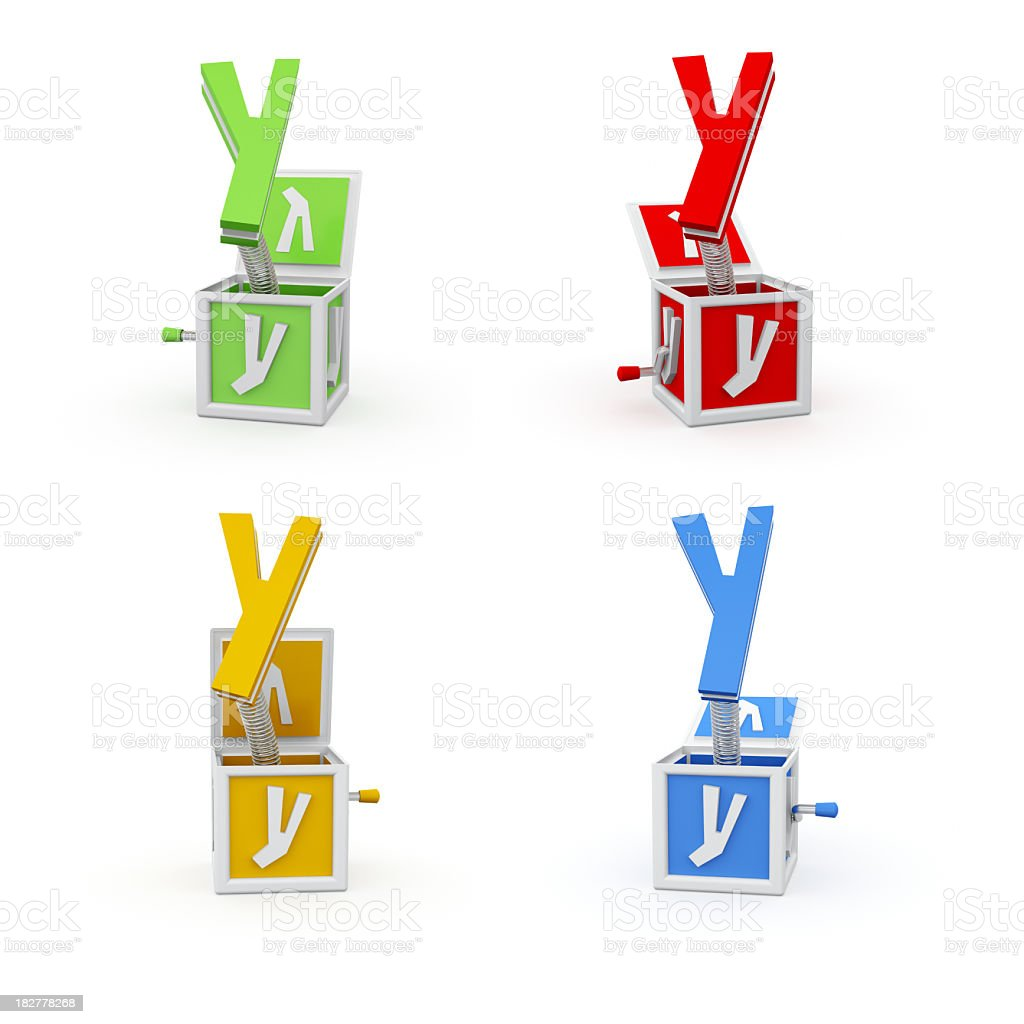 Toy Font Letter Y royalty-free stock photo