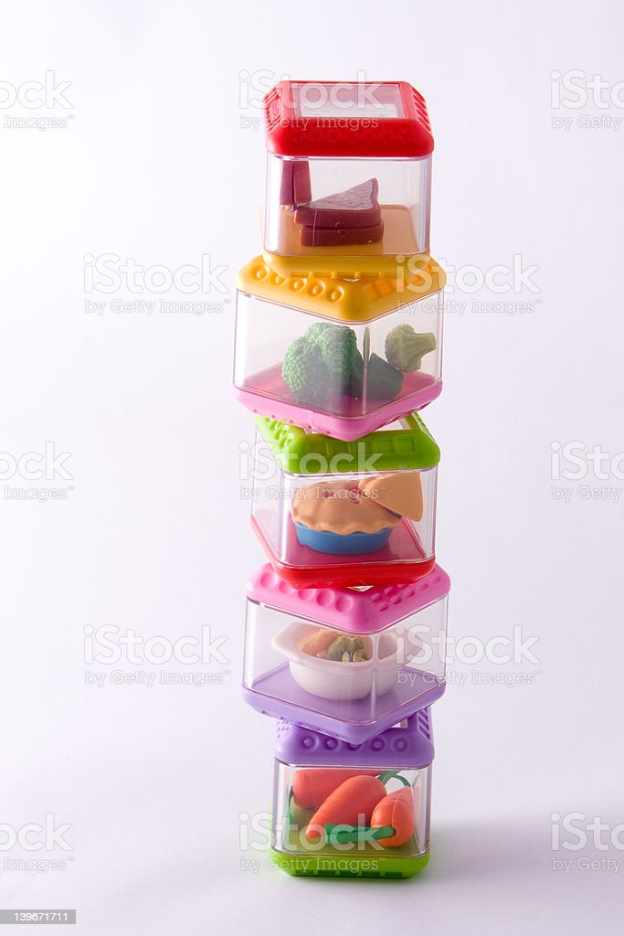 toy food containers 2 stock photo