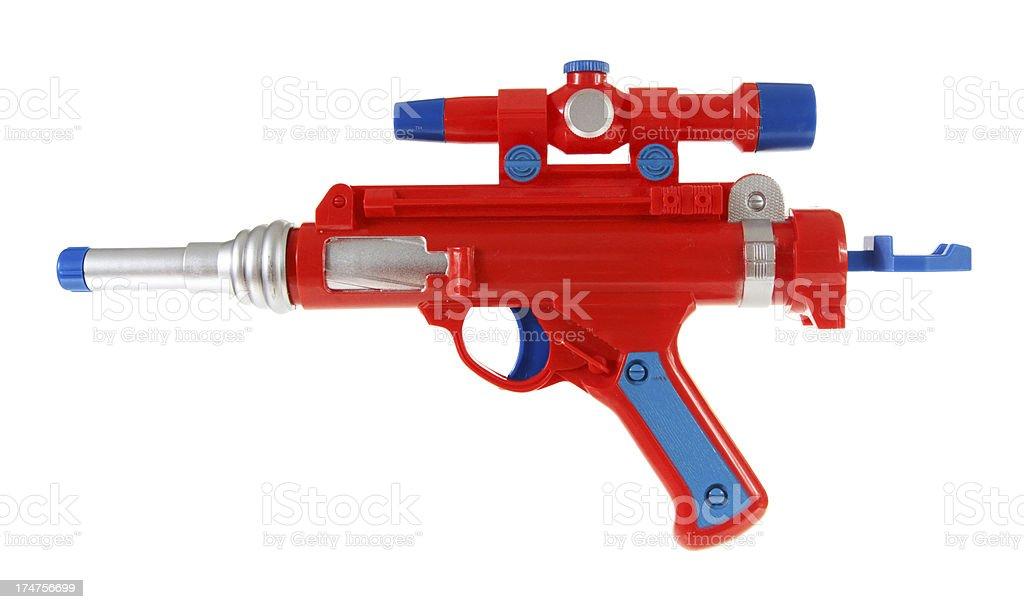 Toy gun isolated on white stock photo
