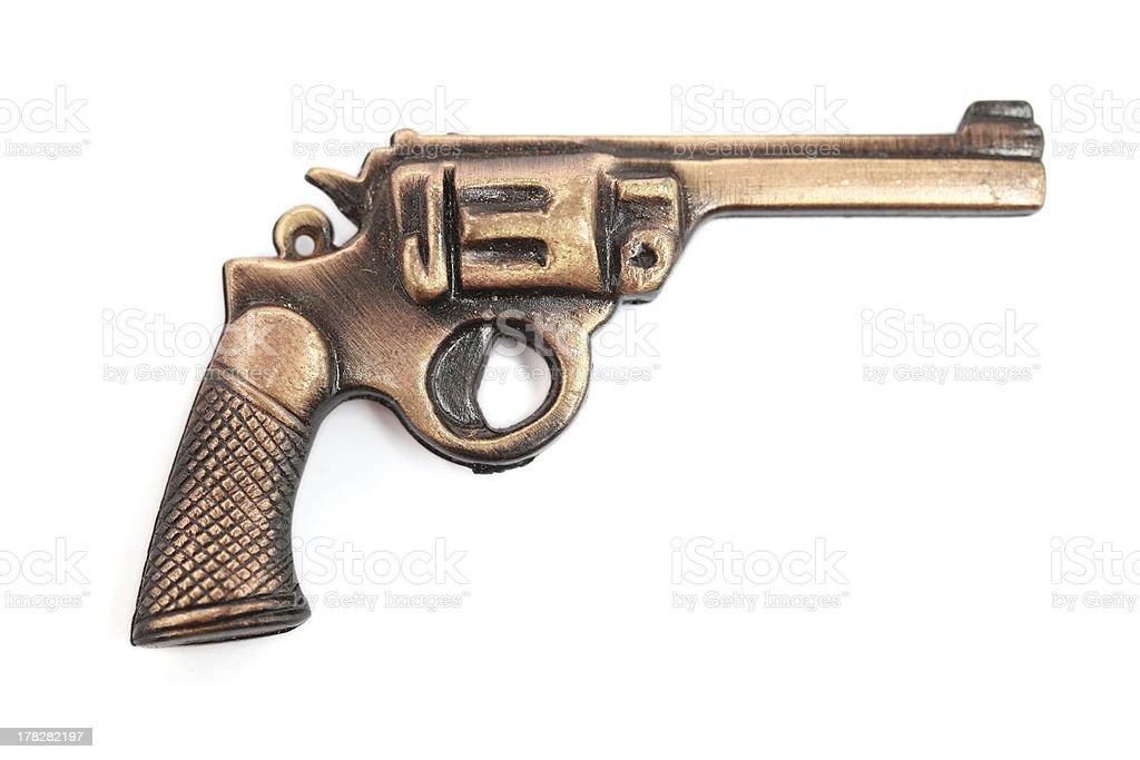 Toy gun isolated on white royalty-free stock photo