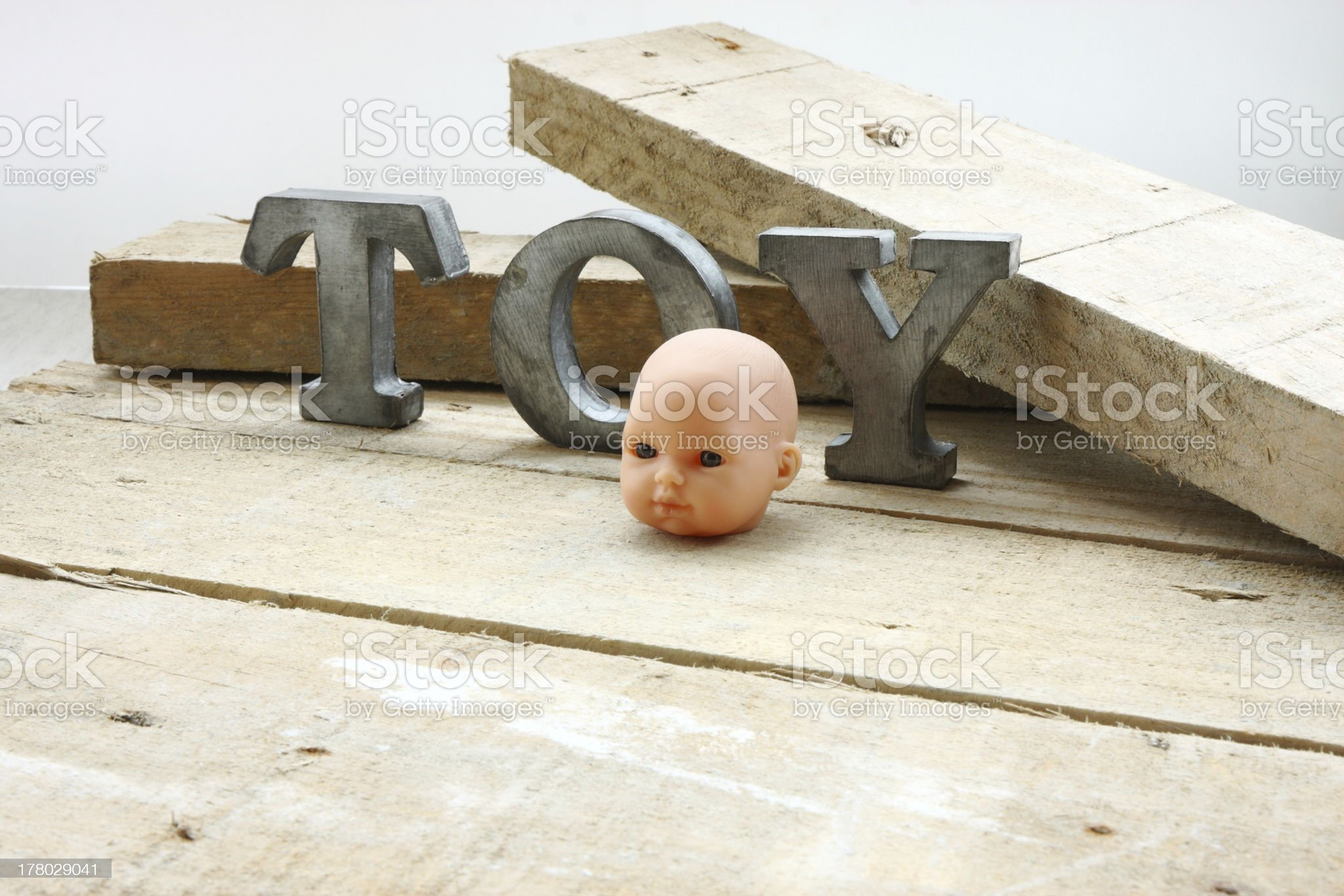 Toy head royalty-free stock photo