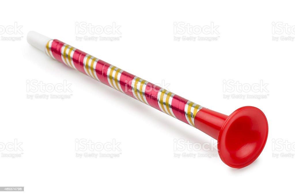 Toy horn stock photo