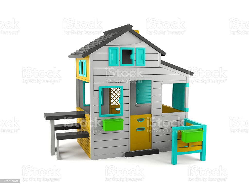 Toy house isolated stock photo