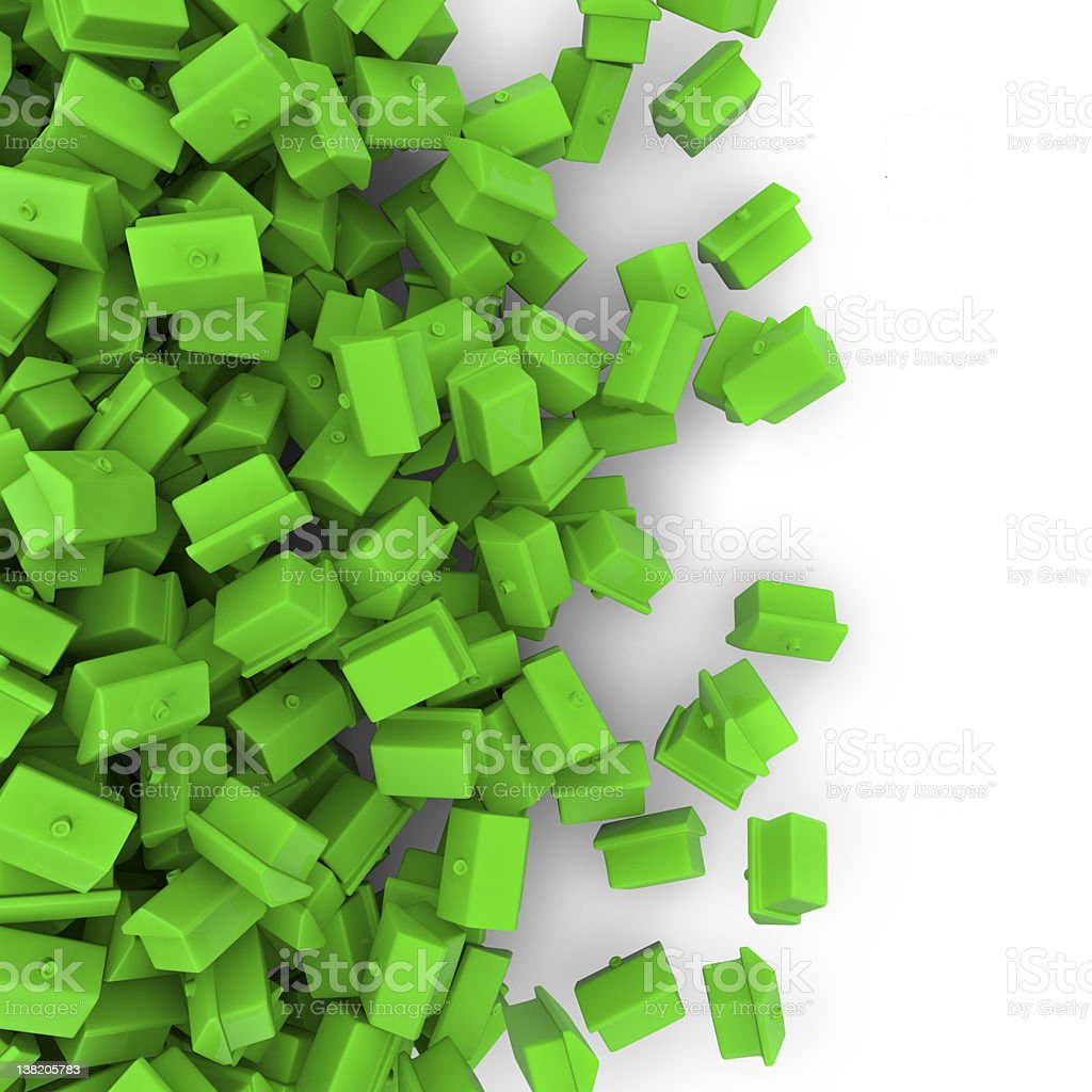 Toy houses spill royalty-free stock photo
