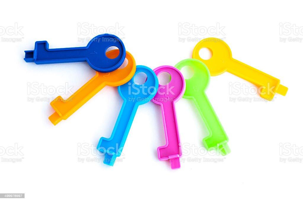 Toy keys stock photo