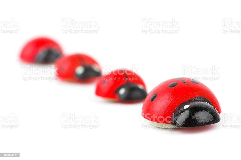 Toy ladybirds stock photo