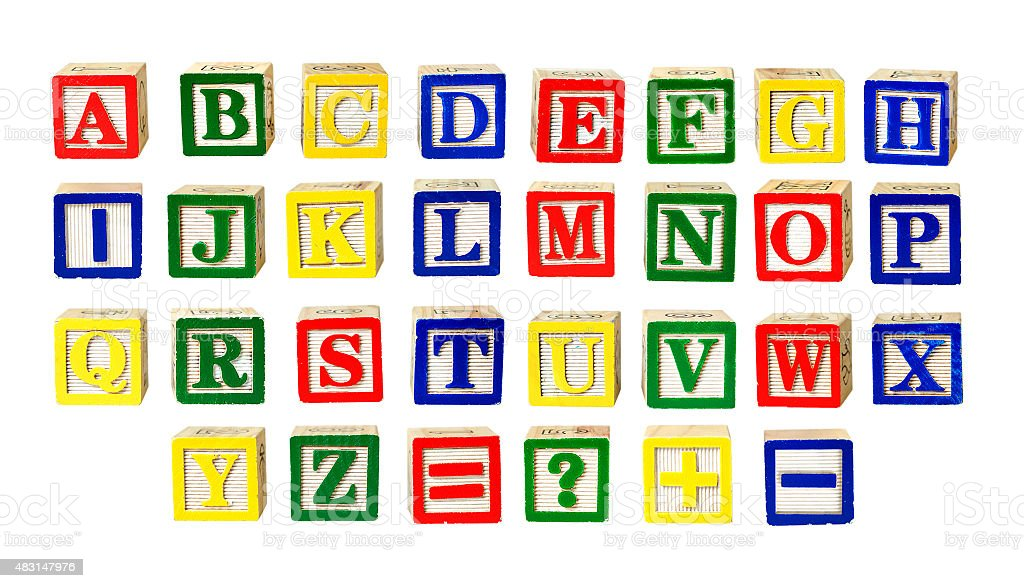 Toy letters stock photo
