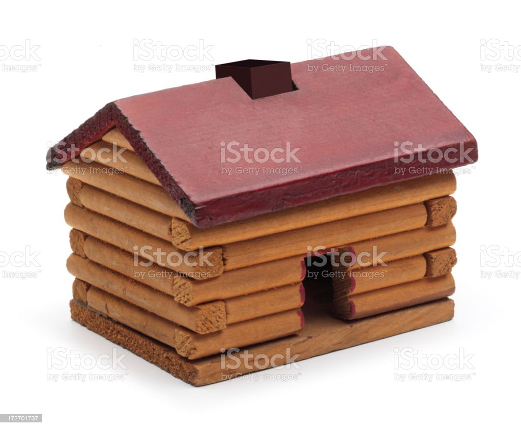 Toy Log Cabin royalty-free stock photo