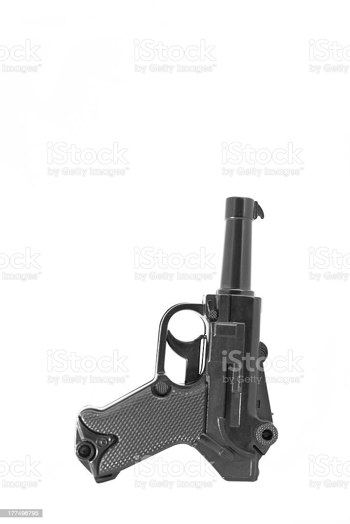 Toy Luger stock photo
