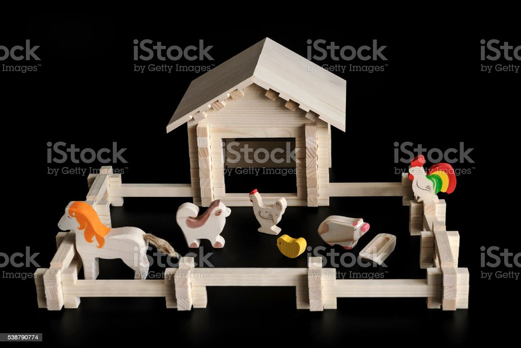 toy model of a house stock photo