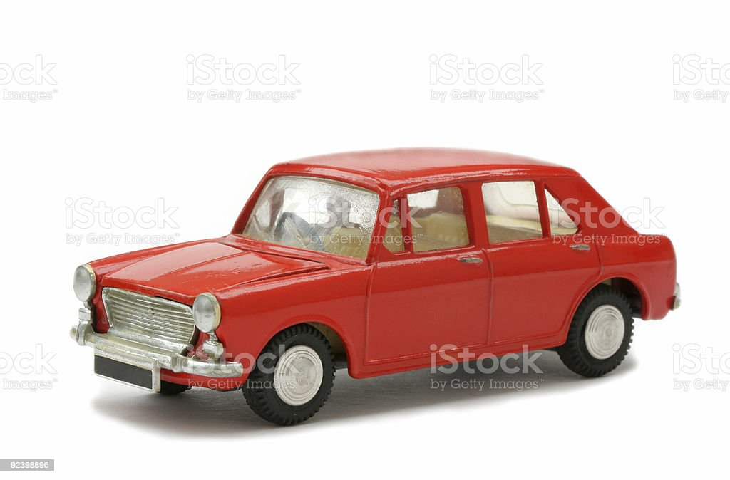 Toy Model sixties car stock photo
