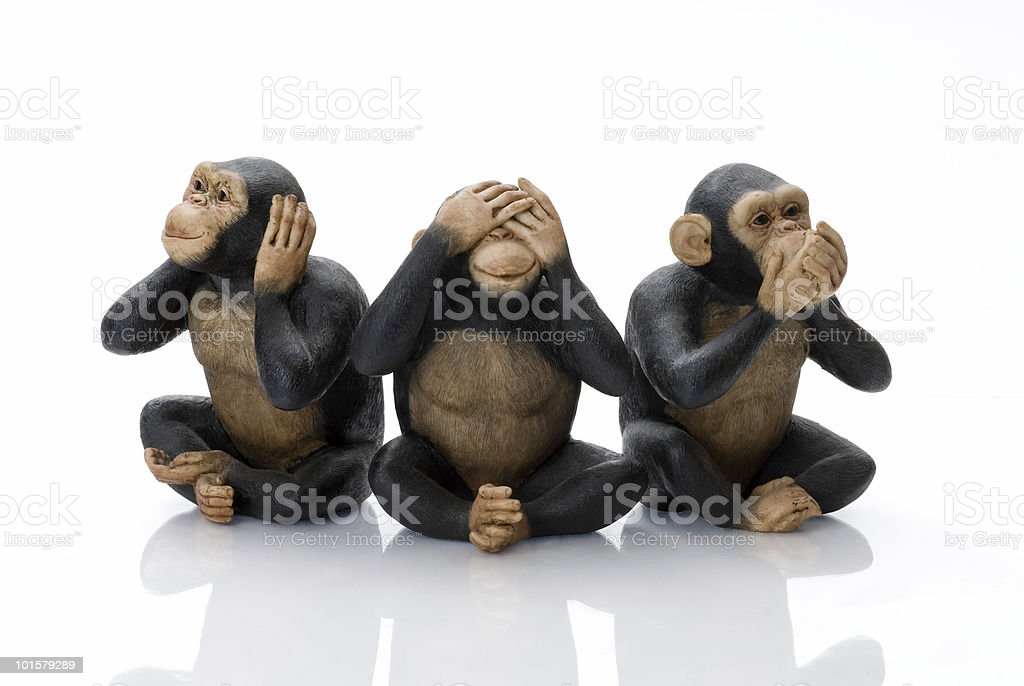 Toy Monkeys stock photo