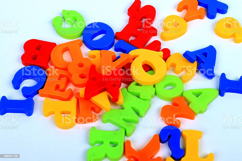 Toy Number stock photo