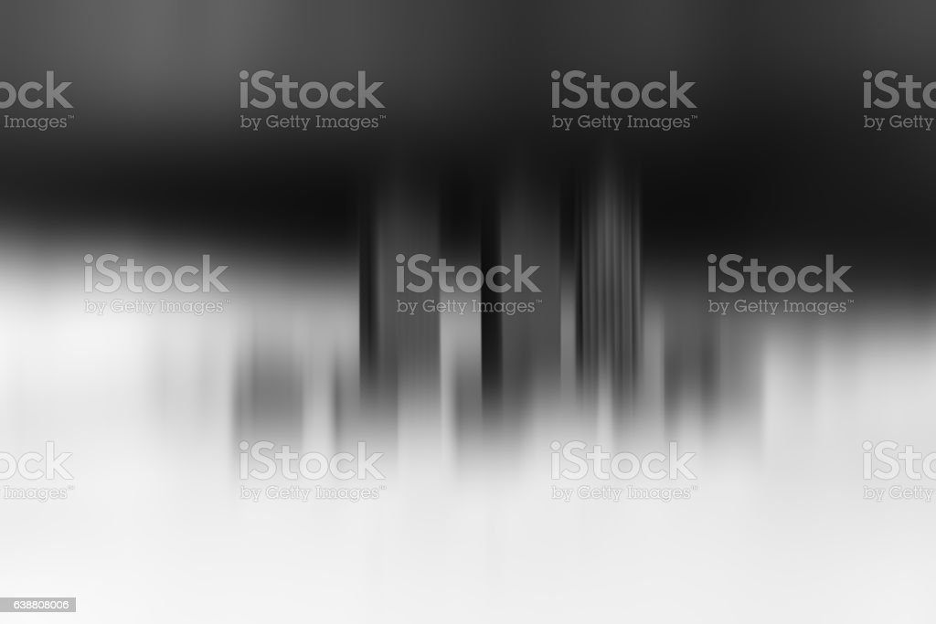 Toy office skyscrapers black and white motion blur background stock photo