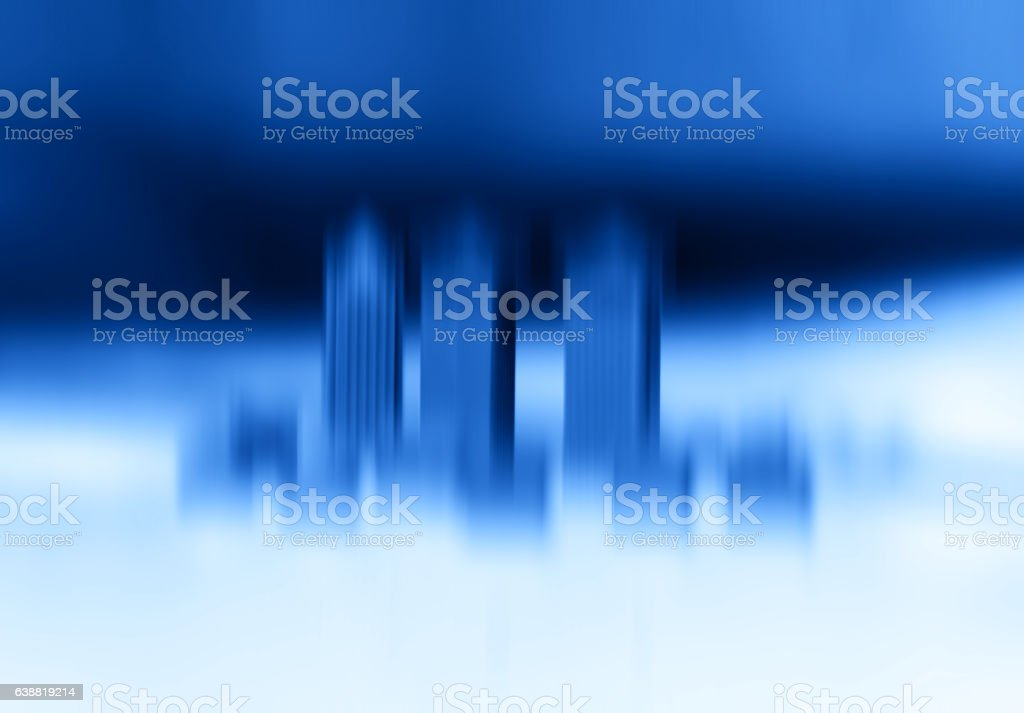 Toy office skyscrapers motion blur abstraction bokeh background stock photo