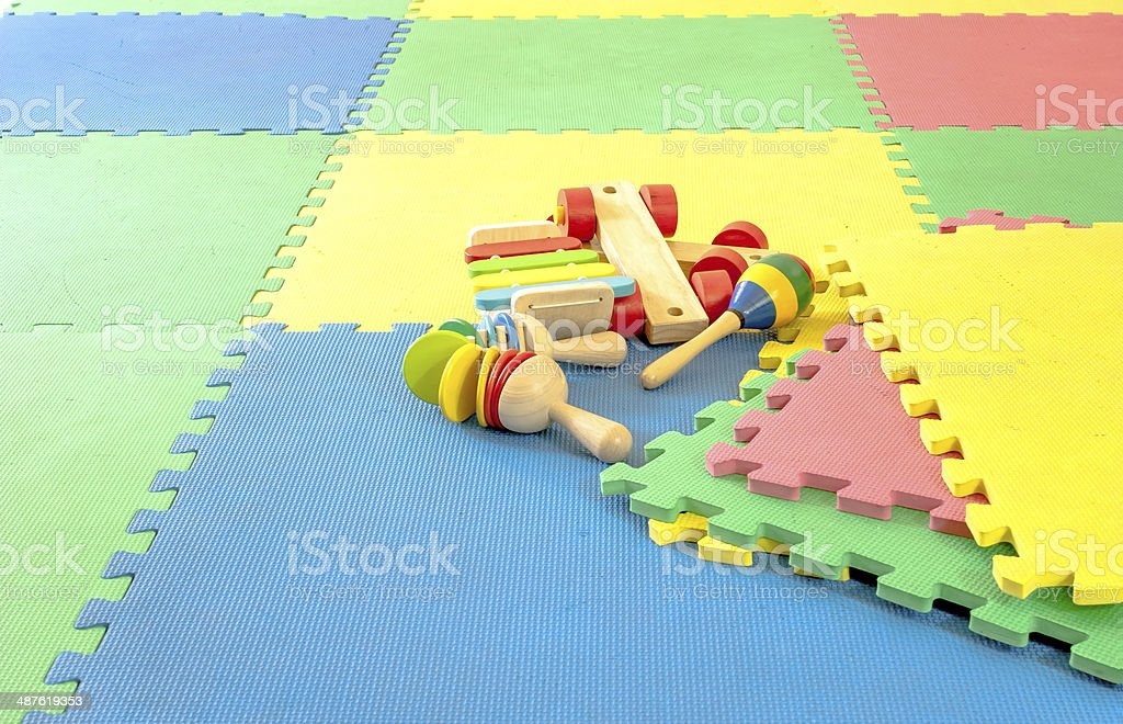 toy on rubber foam  Puzzles royalty-free stock photo