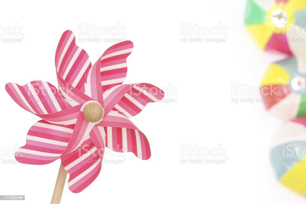 Toy pinwheel stock photo