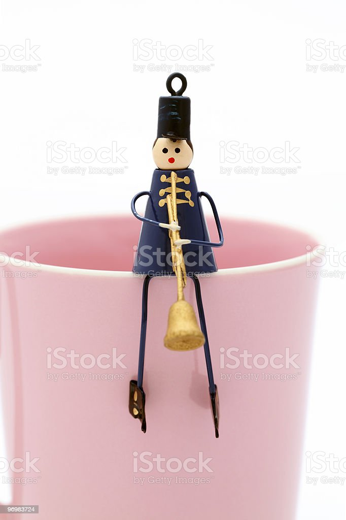 Toy Playing Instrument-人形 royalty-free stock photo