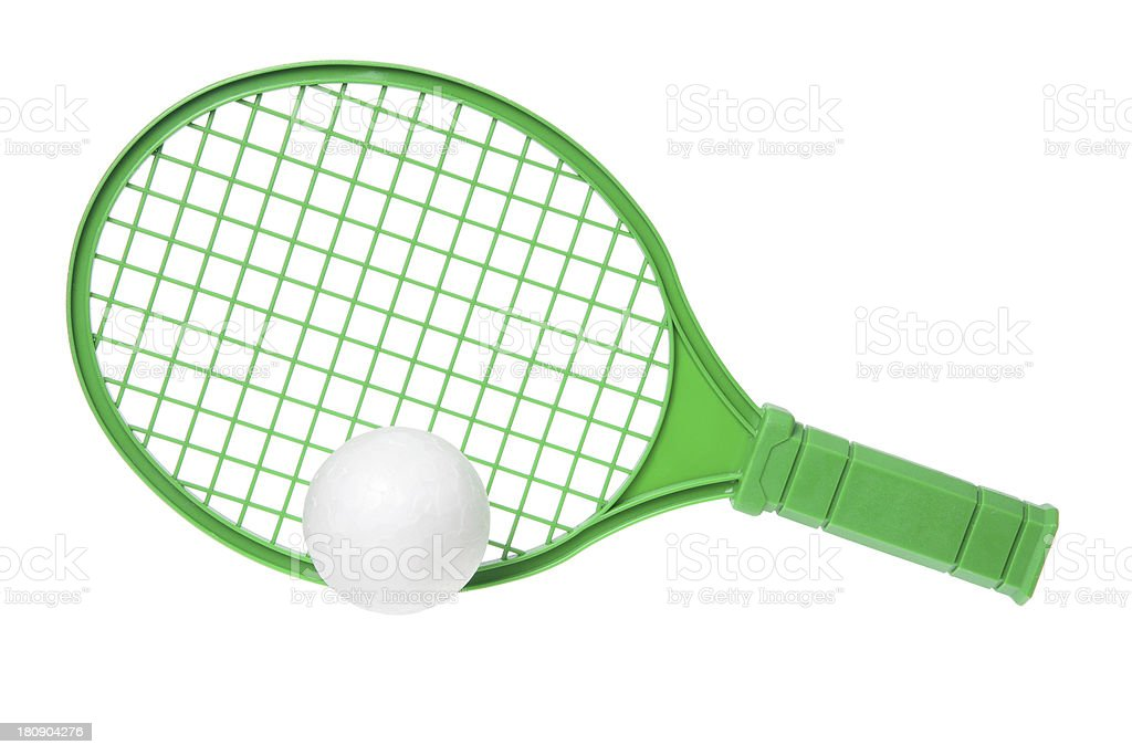 Toy Racket and Ball royalty-free stock photo