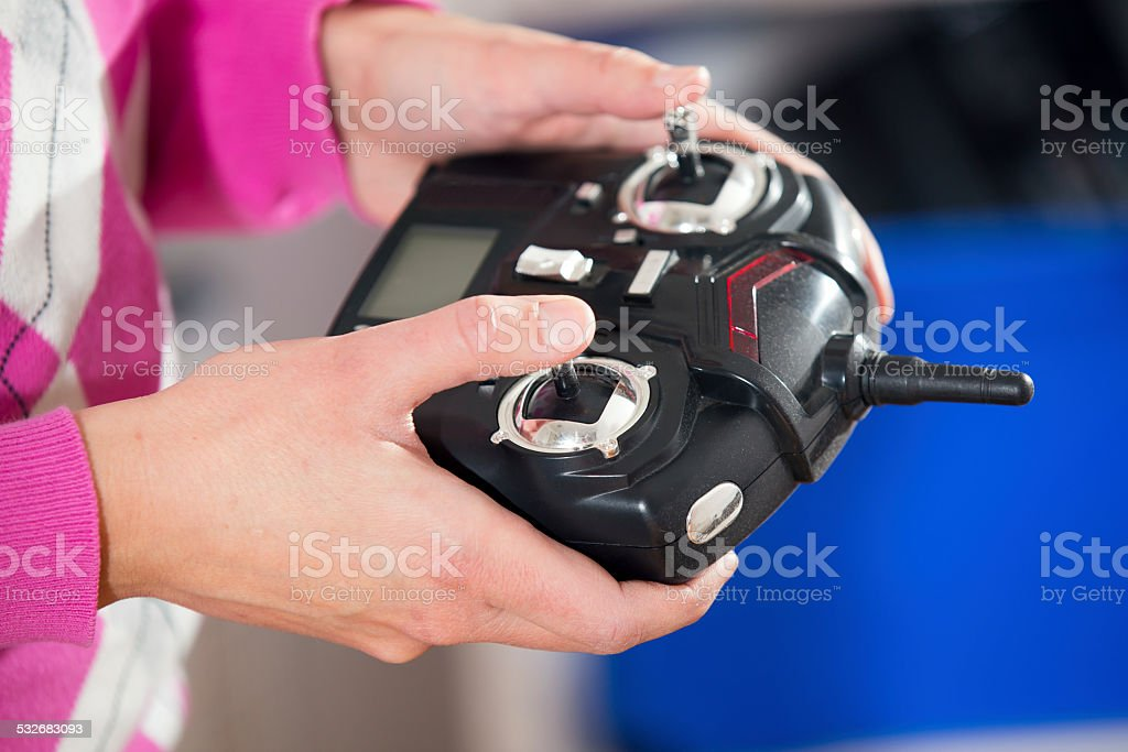 Toy remote control stock photo