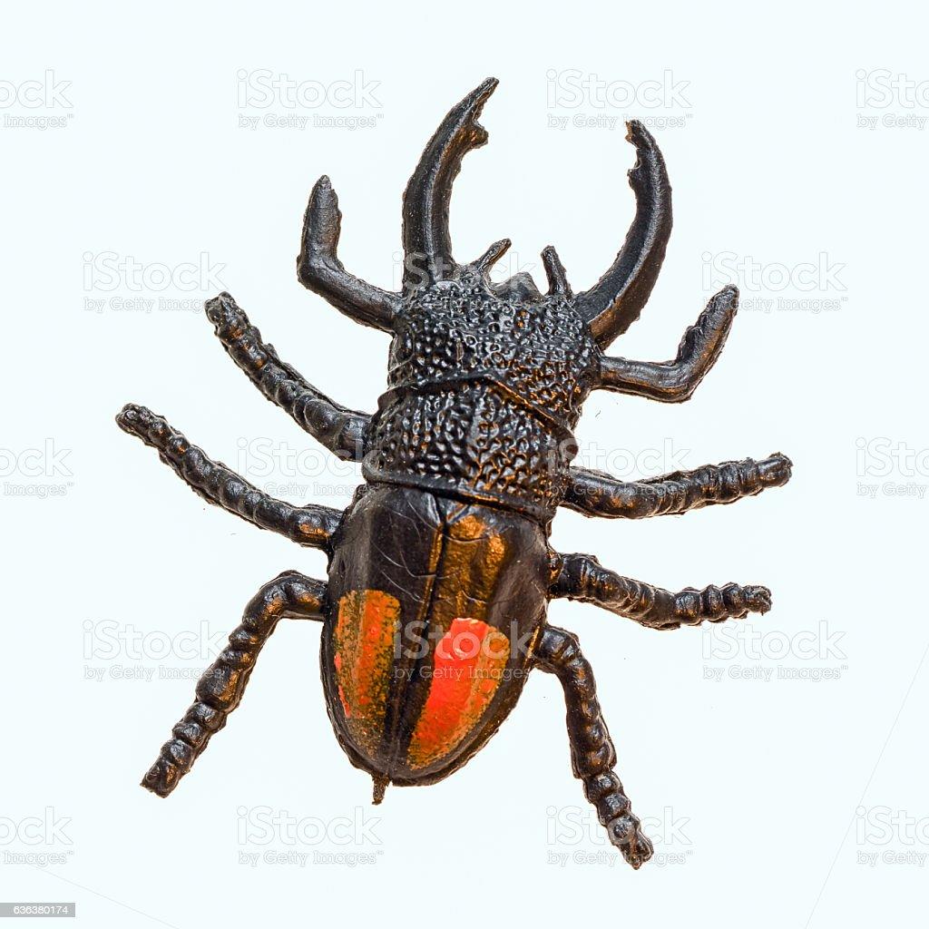 toy replica rhinoceros beetle stock photo
