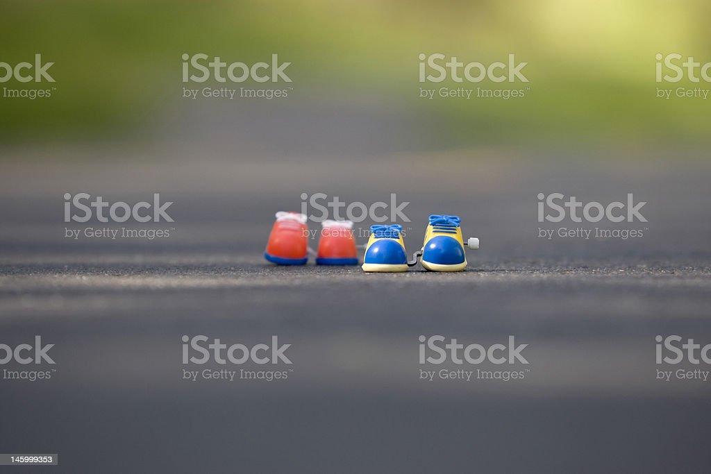 Toy Running Shoes-Horizontal royalty-free stock photo